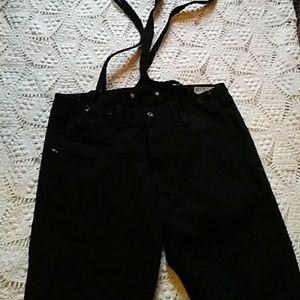 Diesel Baggy black denim pants-sz 30